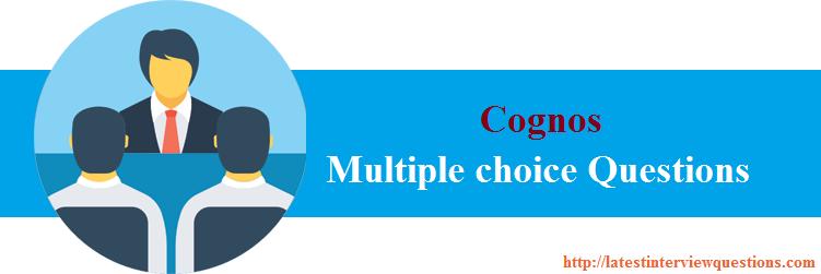 MCQs in Cognos