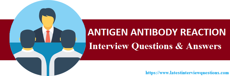 Interview Questions on ANTIGEN ANTIBODY REACTION