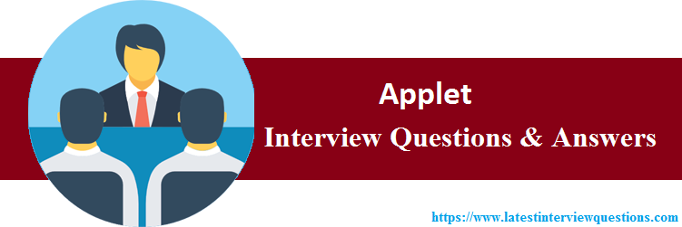 Interview Questions On Applet