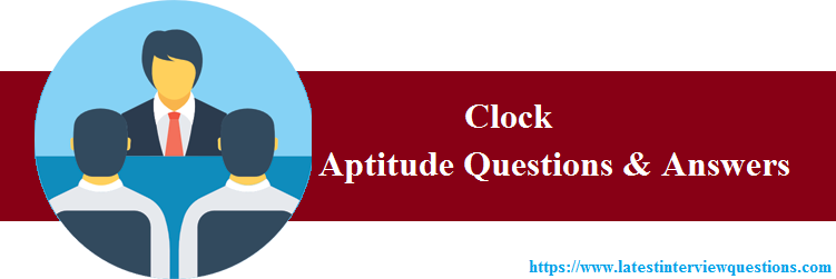 Aptitude Questions for Clock