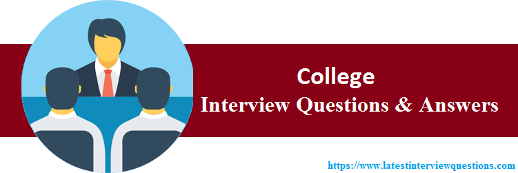 Interview Questions On College