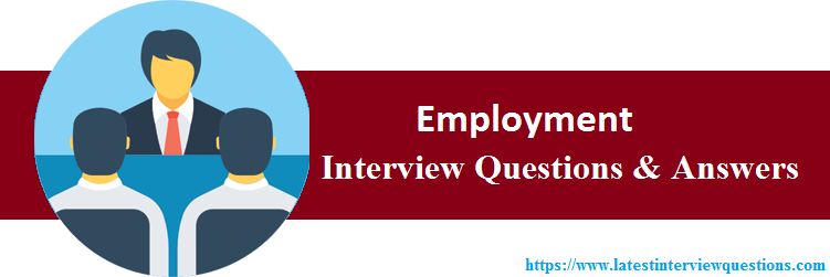 Interview Questions On Employment