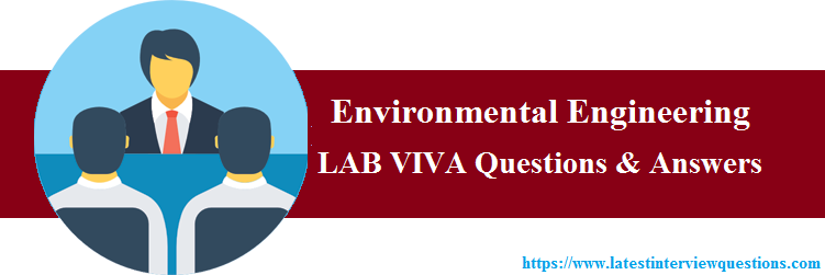 Lab VIVA Questions on Environmental Engineering