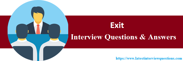 Interview Questions On Exit