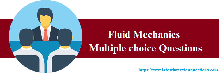 MCQs on Fluid Mechanics
