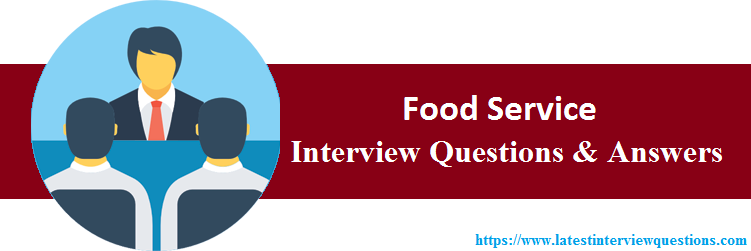 Interview Questions On Food Service