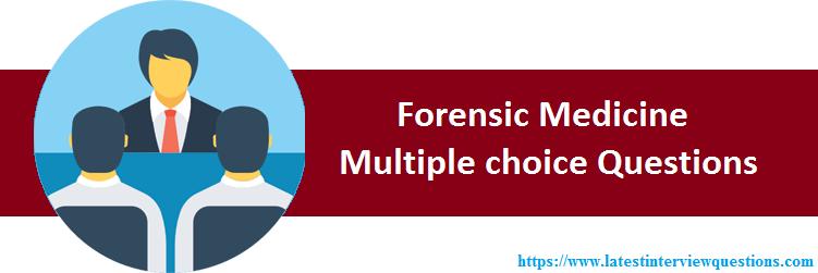 MCQs on Forensic Medicine