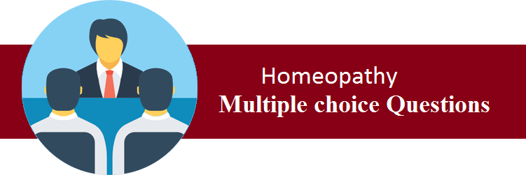 Objective Type Questions On Homeopathy