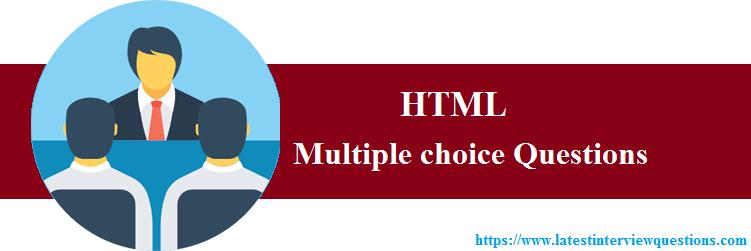 MCQs on HTML