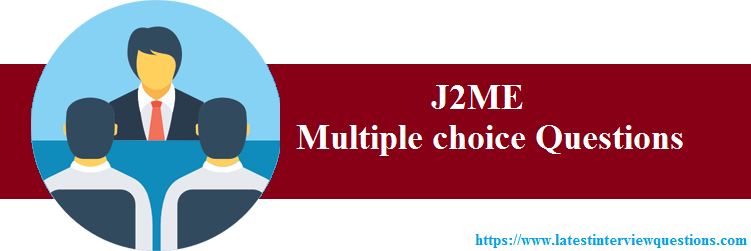 multiple choice questions on j2me