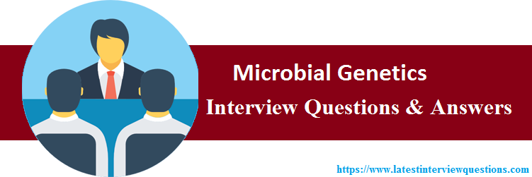 Interview Questions On Microbial Genetics
