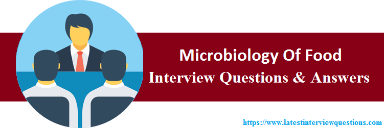 Interview Questions On Microbiology Of Food