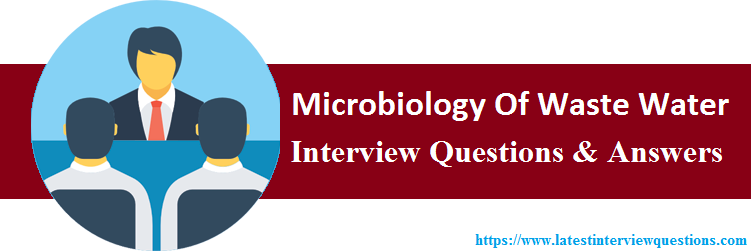 Interview Questions On Microbiology Of Waste Water