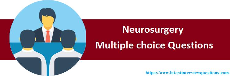 MCQs on Neurosurgery