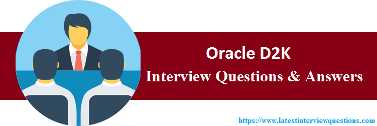Interview Questions On Oracle D2K