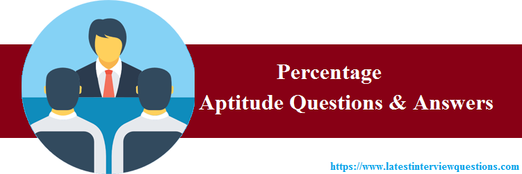 Practice Questions on Percentages Aptitude Questions
