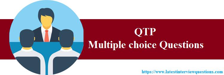 mcqs on QTP