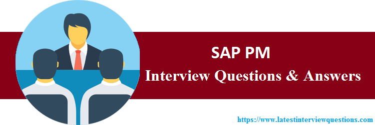 Interview Questions On SAP PM