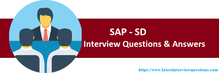 Interview Questions on SAP SD