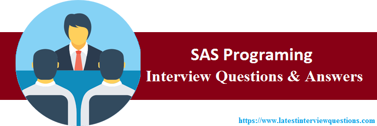 Interview Questions On SAS Programing