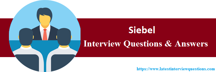 Interview Questions On Siebel