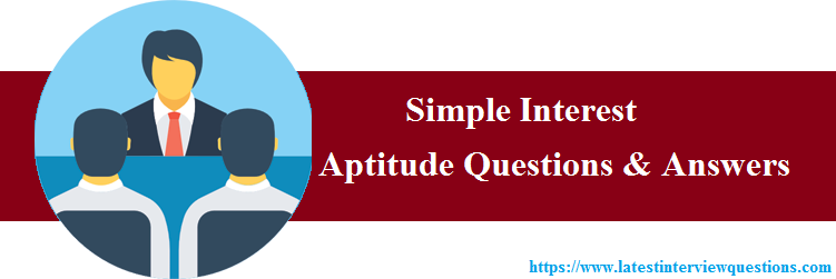 Simple Interest Formula Test Questions and Answers