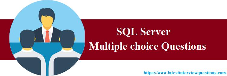 MCQs on SQL Server