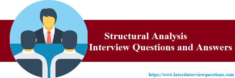 Interview Questions on Structural Analysis