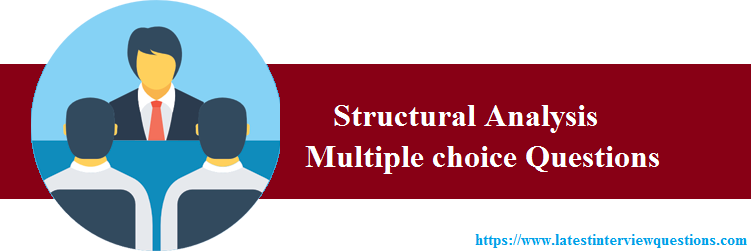 MCQs on Structural Analysis