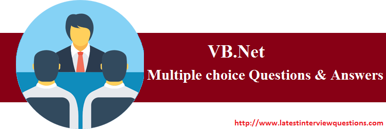 multiple choice questions on vb.net