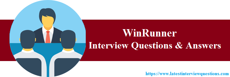 interview questions on WinRunner